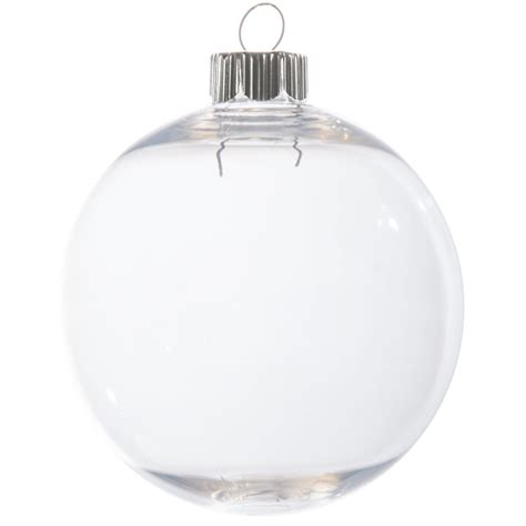 clear plastic ball ornament 83mm 2610 62 craftoutlet com