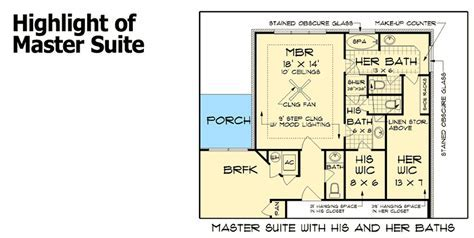 His and Her Bathrooms   55137BR   1st Floor Master Suite