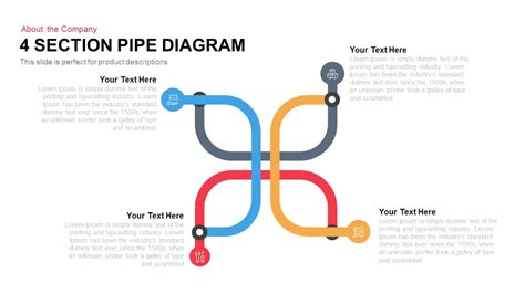 section 4 a 1 4 section pipe diagram powerpoint keynote slidebazaar