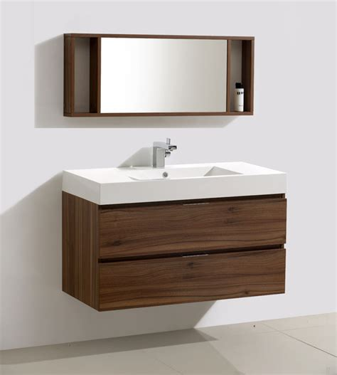 Modern Bathroom Vanities Canada 39 Inch Wall Mounted Modern Bathroom Vanity Mv317000c