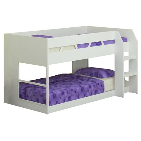 White Single Bunk Beds White Low Line Single Bunk Bed Temple Webster