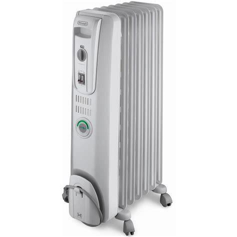 feature comforts oil filled radiator heater delonghi ew7707cm comfort temp 7 fin oil filled radiator w
