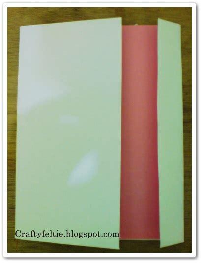 membuat kartu ucapan dari kertas warna craftyfeltie tutorial membuat kartu ucapan dengan hiasan
