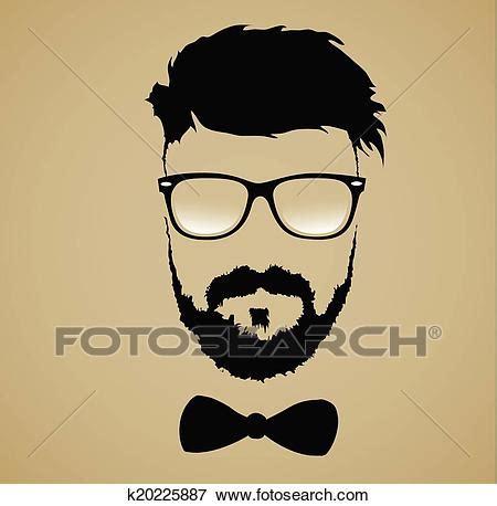 clipart occhiali baffi barba occhiali acconciatura clip k20225887