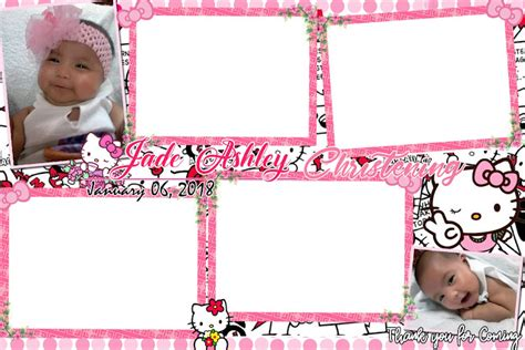 Hello Kitty Photo Booth Template For Christening Get Layout Baptism Photo Booth Template