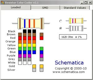 resistor color code and smd calculator software