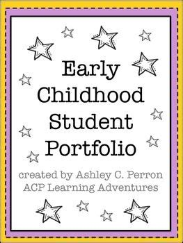 Preschool Kindergarten Student Portfolio Memory Book Student Portfolios Teaching And Portrait Children S Portfolio Template Free