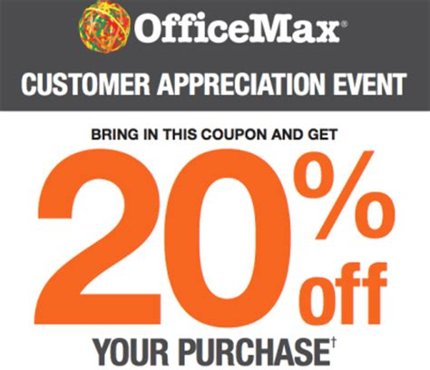 10 40 office max coupon good today only august 22 officemax 20 off entire purchase coupon hot deals