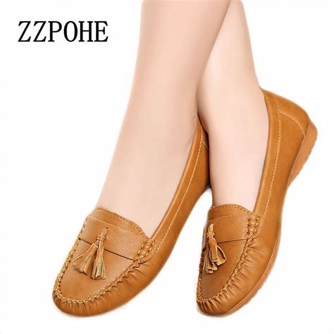 comfortable shoes for elderly 2017 new fashion tassels soft bottom women flats shoes