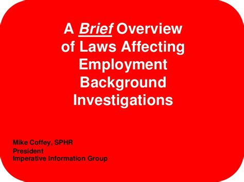 Employment Background Check Laws Background Check Laws
