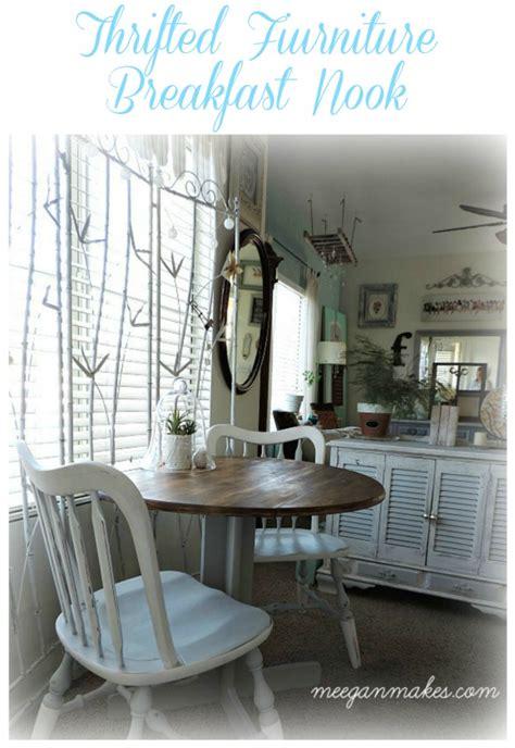 breakfast nook  thrifted furniture