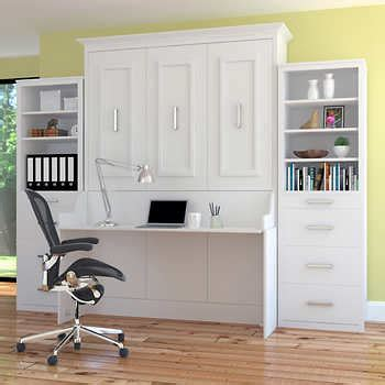 queen murphy bed with desk wall beds