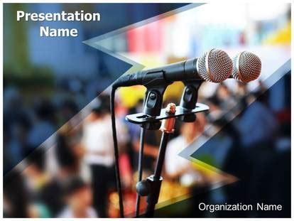 Public Speaking Powerpoint Template Background Subscriptiontemplates Com Speaking Powerpoint Template