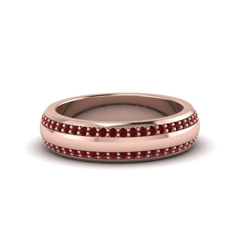 shop for ruby mens wedding bands fascinating diamonds