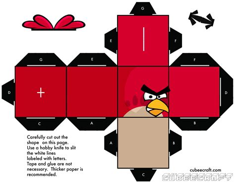 Angry Birds Papercraft - angry birds cubee by gnbman on deviantart