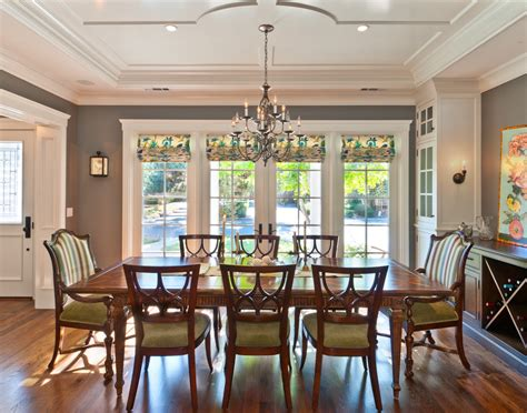 mismatched dining table and chairs