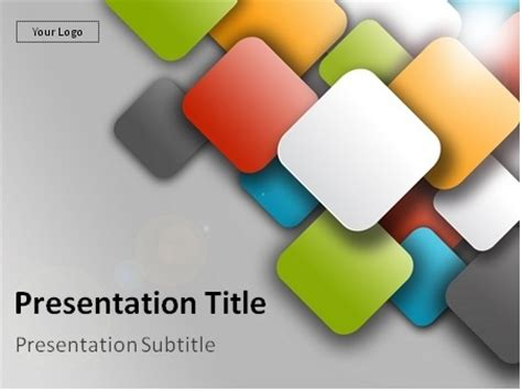 squares powerpoint template free colorful squares powerpoint template 00