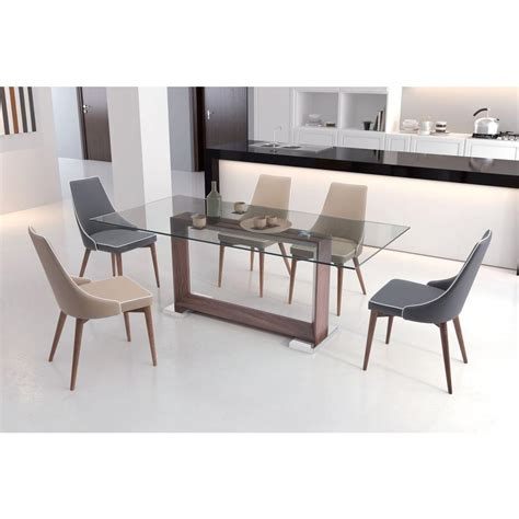 walnut kitchen and dining room extension kitchen zuo oasis walnut dining table 100288 the home depot