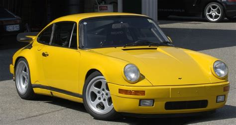 porsche ruf yellowbird of ruf ctr yellowbird on nurburgring porschebahn