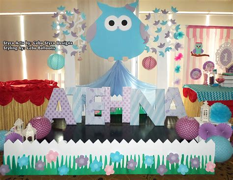 City Owl Decorations by Christening Stage Decoration Decoration Ideas Reviews 2017