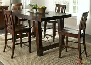Dining Table Set Tahoe Mahogany Finish Counter Height Dining Table Set
