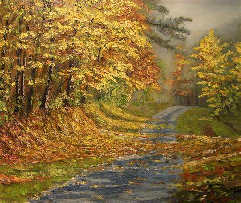 Chemin Grange Canal by Chemin Aux Couleurs D Automne Mes Peintures