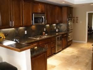 cognac kitchen cabinets