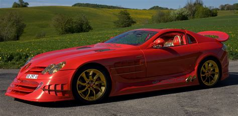 mercedes mclaren red mercedes benz slr mclaren quot 999 red gold dream quot by ueli
