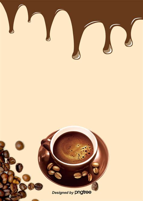 simple style coffee bean food  drinks poster background