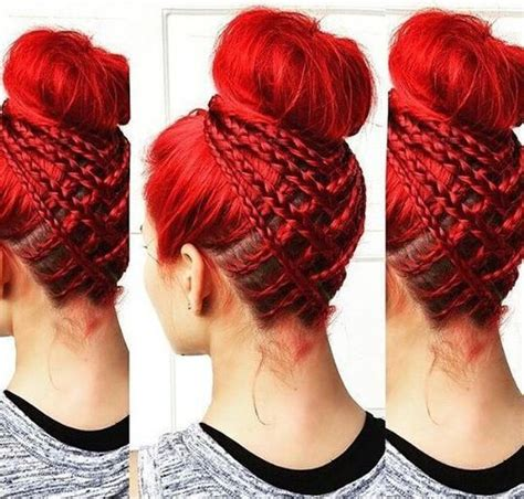 cornrows and loose bun 35 braided buns re inventing the classic style