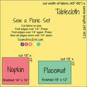 Upholstery Fabric Measurements How To Sew A Picnic Set Seamstresserin Designs