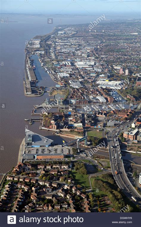Search Hull East Aerial View Of The Humber Estuary And Hull East