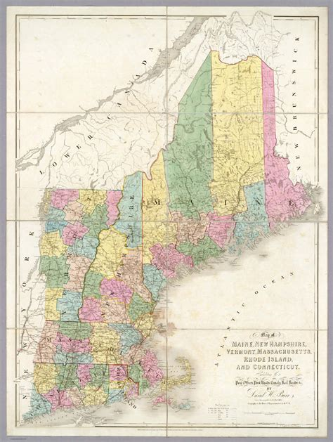 new hshire maine map of massachusetts new hshire and maine