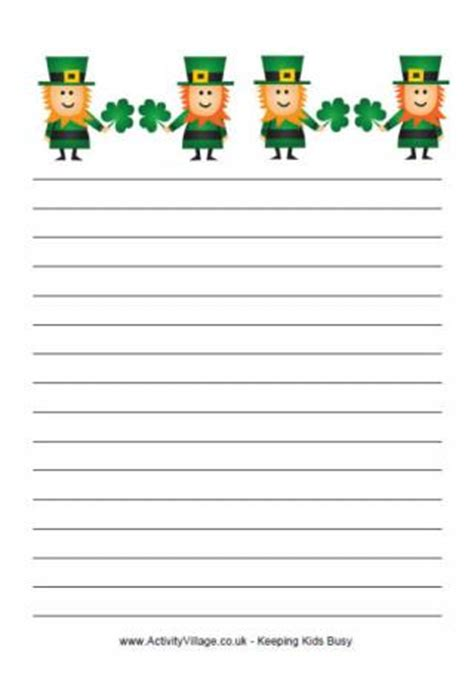 st day writing paper st s day writing paper