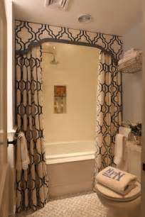 bathroom ideas with shower curtains double shower curtains transitional bathroom liz