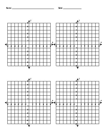 printable algebra graphs data illustrated resources coordinate grid and plane