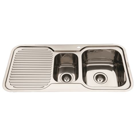 Bunnings Kitchen Sink Bunnings Everhard Industries Indoor Everhard 980mm Nugleam 1 And 1 2 Rh Bowl Kitchen Sink With