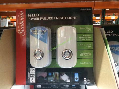 power failure night light sunbeam 2pk power failure night light costcochaser