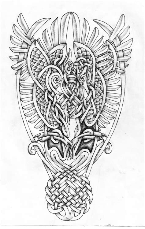 celtic phoenixes shaded by feivelyn on deviantart