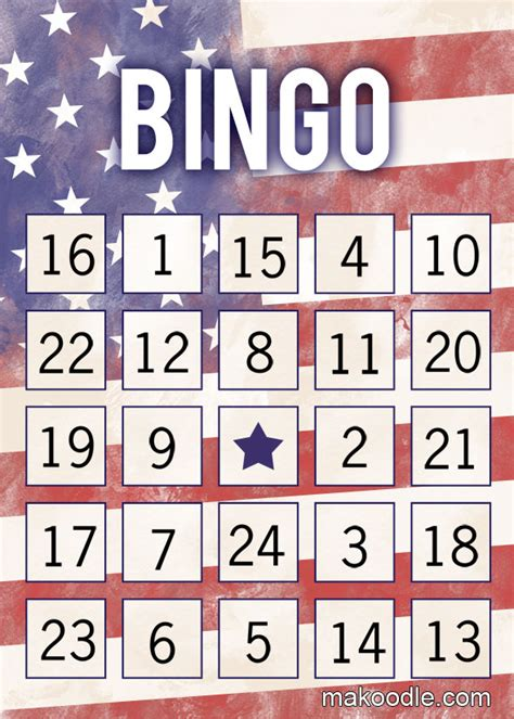 printable veterans day bingo cards 14 free memorial day party printables and ideas 4over4 com