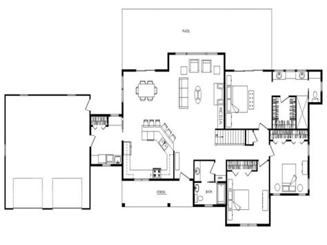 open floor ranch house open concept ranch floor plans log