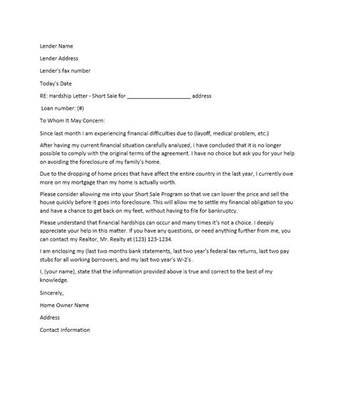 Foreclosure Hardship Letter Sle For Bank sle foreclosure letter to owner docoments ojazlink