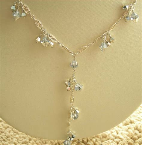 Handcrafted Bridal Jewelry - bridal handcrafted jewelry swarovski necklace