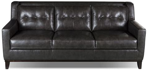 The Brick Leather Sofa by Davina Genuine Leather Sofa Smoke The Brick Home
