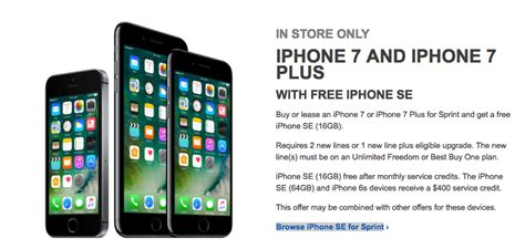 best buy offering free iphone se with every iphone 7 or iphone 7 plus mindless magazine