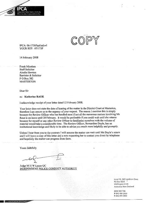 pca cover letter sle complaint letter to inspector chief
