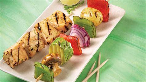Iga Vegetarian 1 vegetable brochettes with lime iga recipes