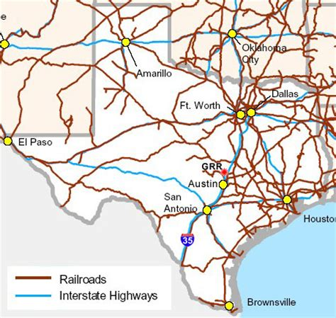 map of texas railroads texas state railroad map my
