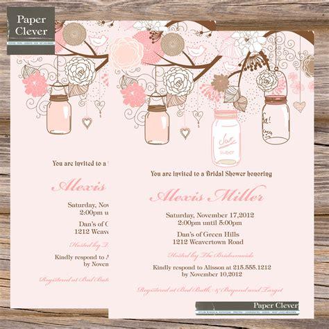 shabby chic bridal shower invitation card design ideas