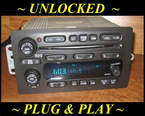 2004 gmc envoy radio unlocked 02 03 chevy trailblazer gmc envoy bose 6 disc cd